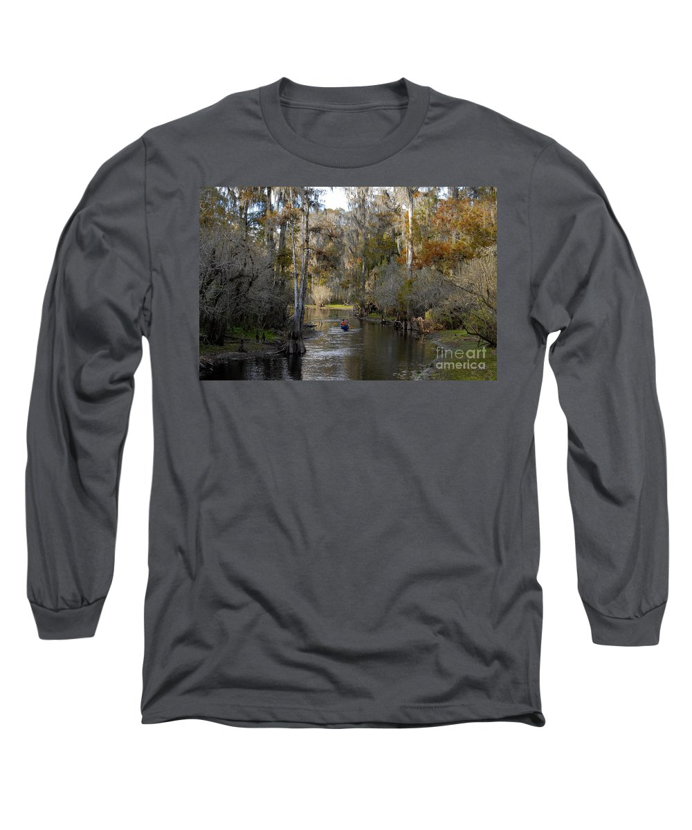 Family Long Sleeve T-Shirt featuring the photograph Canoeing In Florida by David Lee Thompson