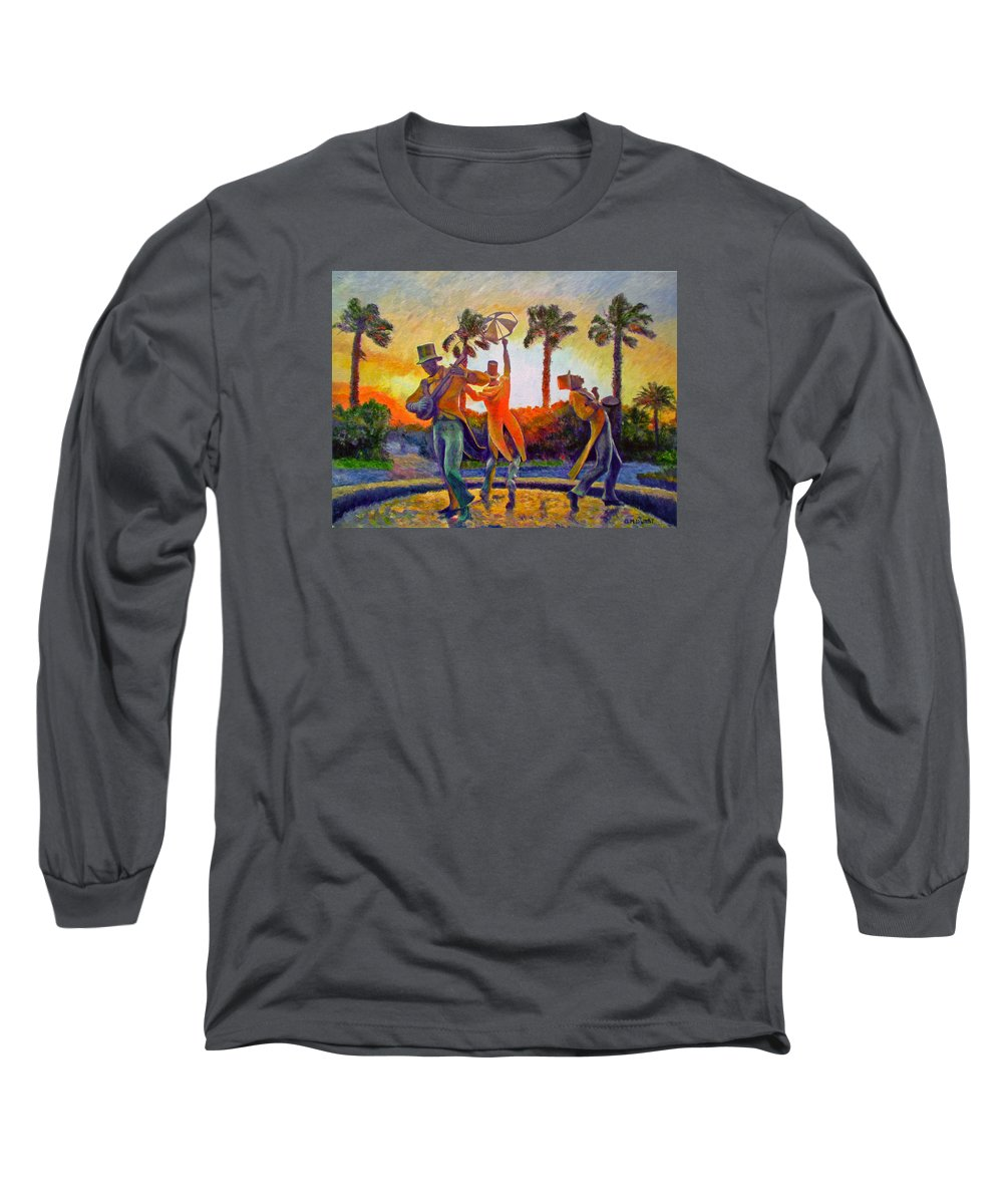 Sunset Long Sleeve T-Shirt featuring the painting Cape Minstrels by Michael Durst