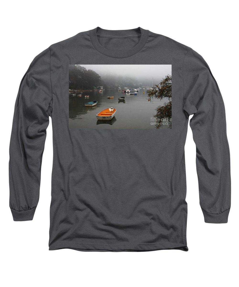 Mist Long Sleeve T-Shirt featuring the photograph Careel Bay Mist by Avalon Fine Art Photography