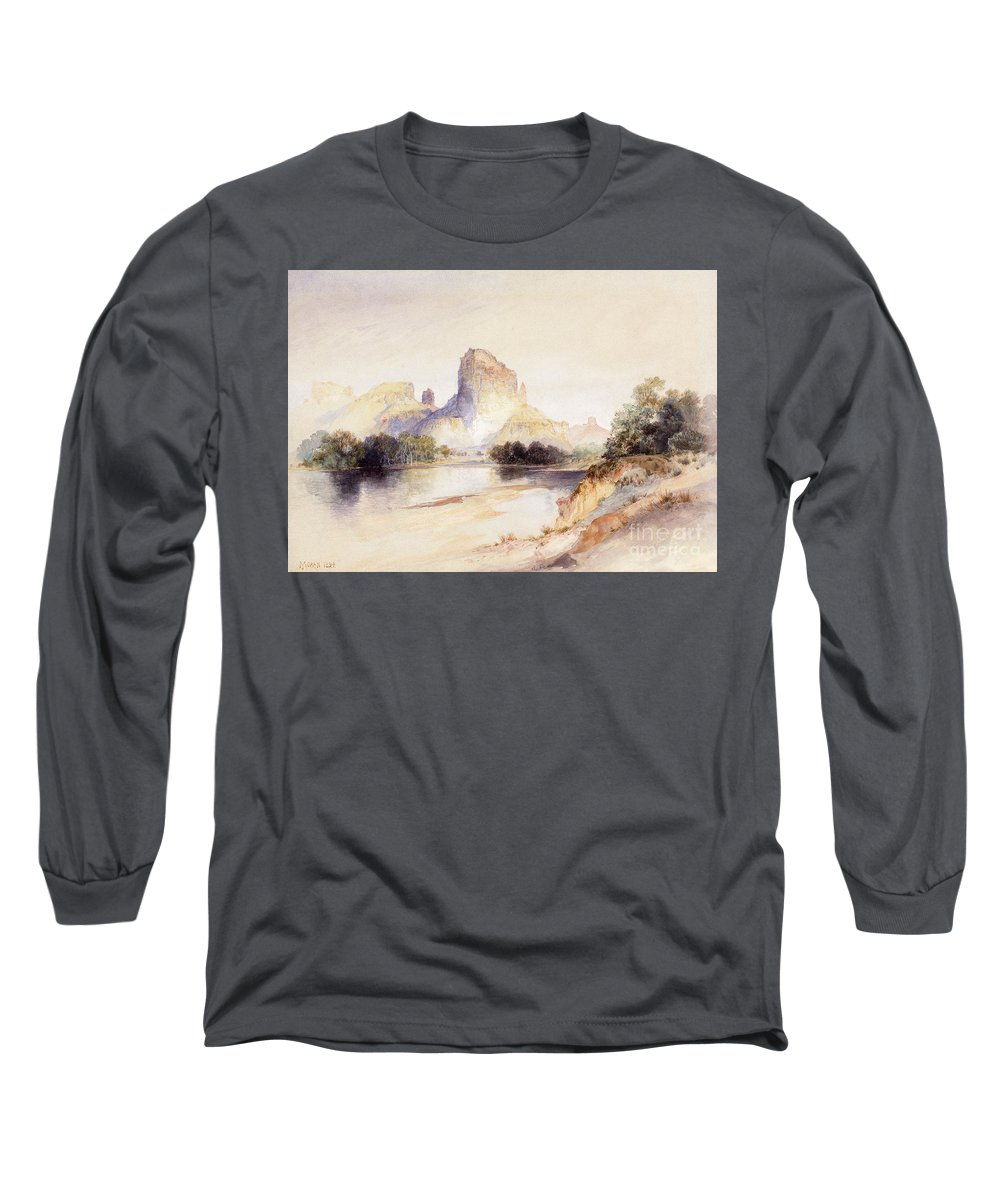 River Bank Drawings Long Sleeve T-Shirts