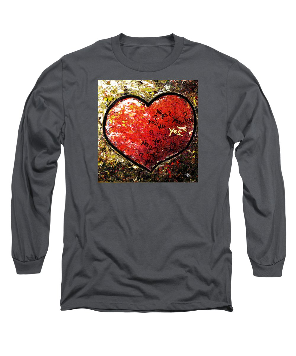 Pop Long Sleeve T-Shirt featuring the painting Chaos In Heart by Hiroko Sakai