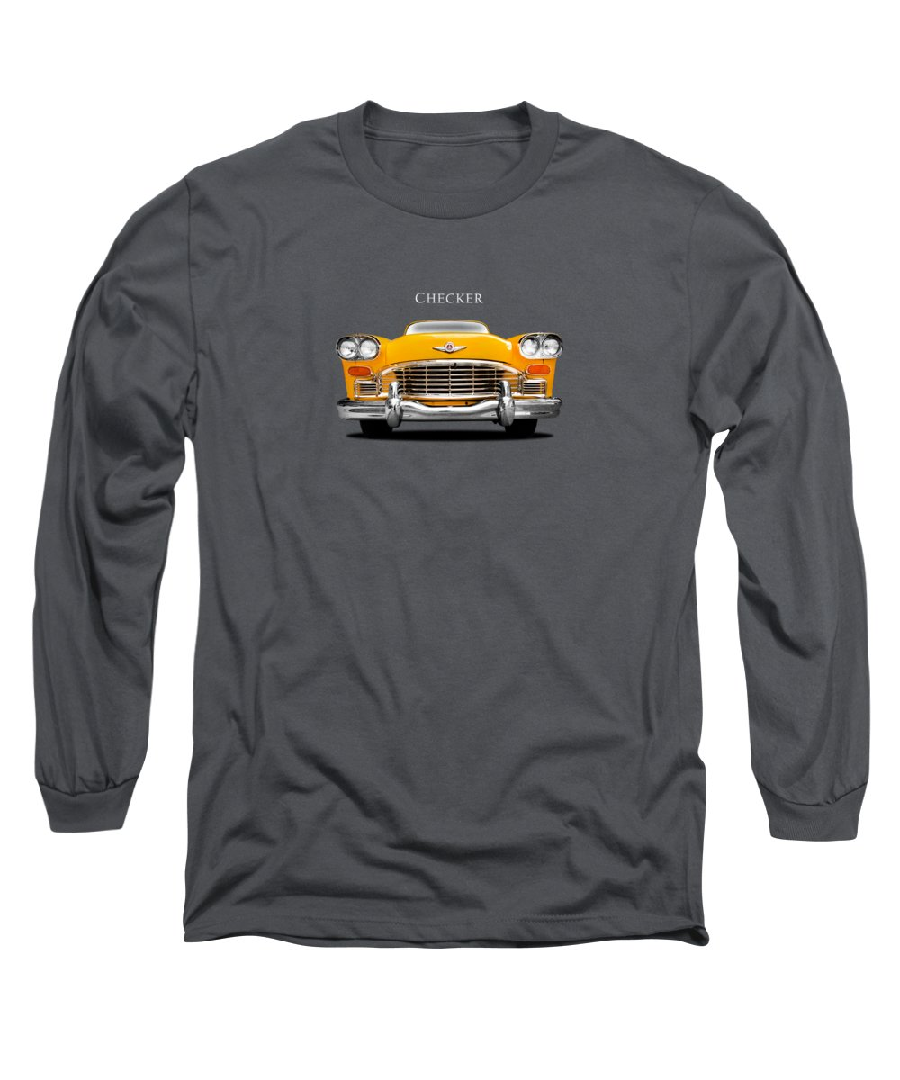Checker Cab Long Sleeve T-Shirt featuring the photograph Checker Cab by Mark Rogan