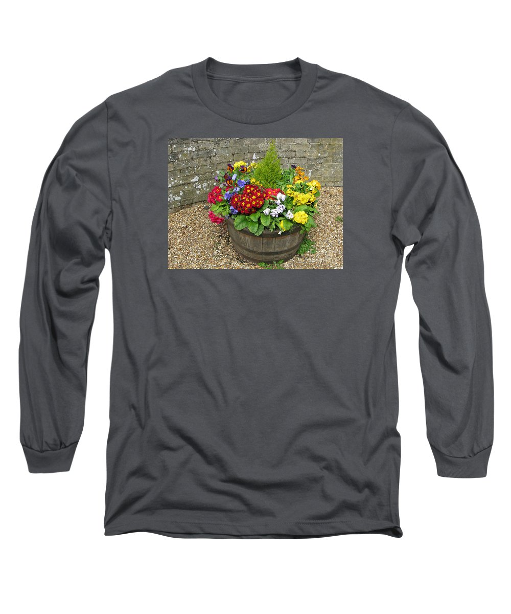 Flowers Long Sleeve T-Shirt featuring the photograph Chock Full Of Color by Ann Horn