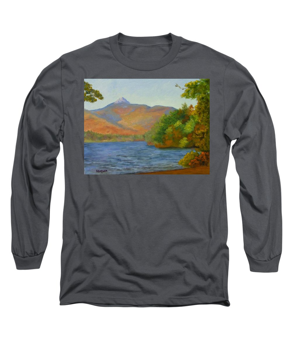 Mount Chocorua And Chocorua Lake Long Sleeve T-Shirt featuring the painting Chocorua by Sharon E Allen