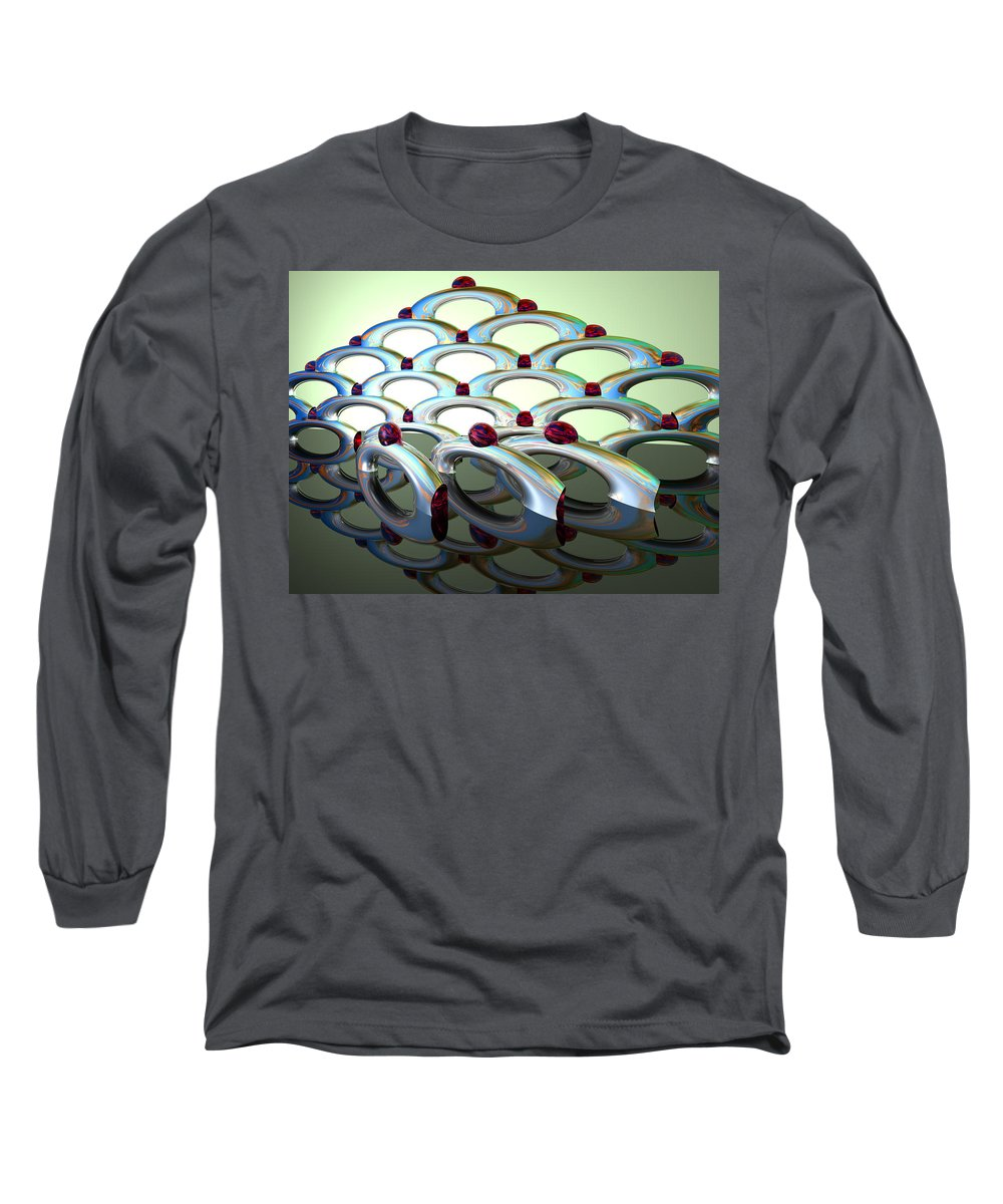 Scott Piers Long Sleeve T-Shirt featuring the painting Chrome Sundae by Scott Piers