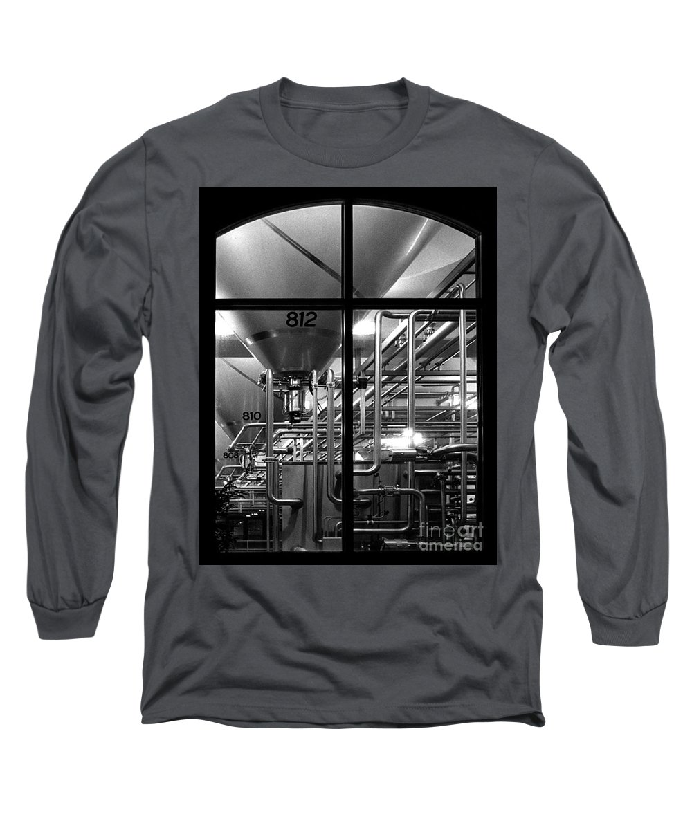 Black And White Long Sleeve T-Shirt featuring the photograph Church Of Modern Man by Peter Piatt
