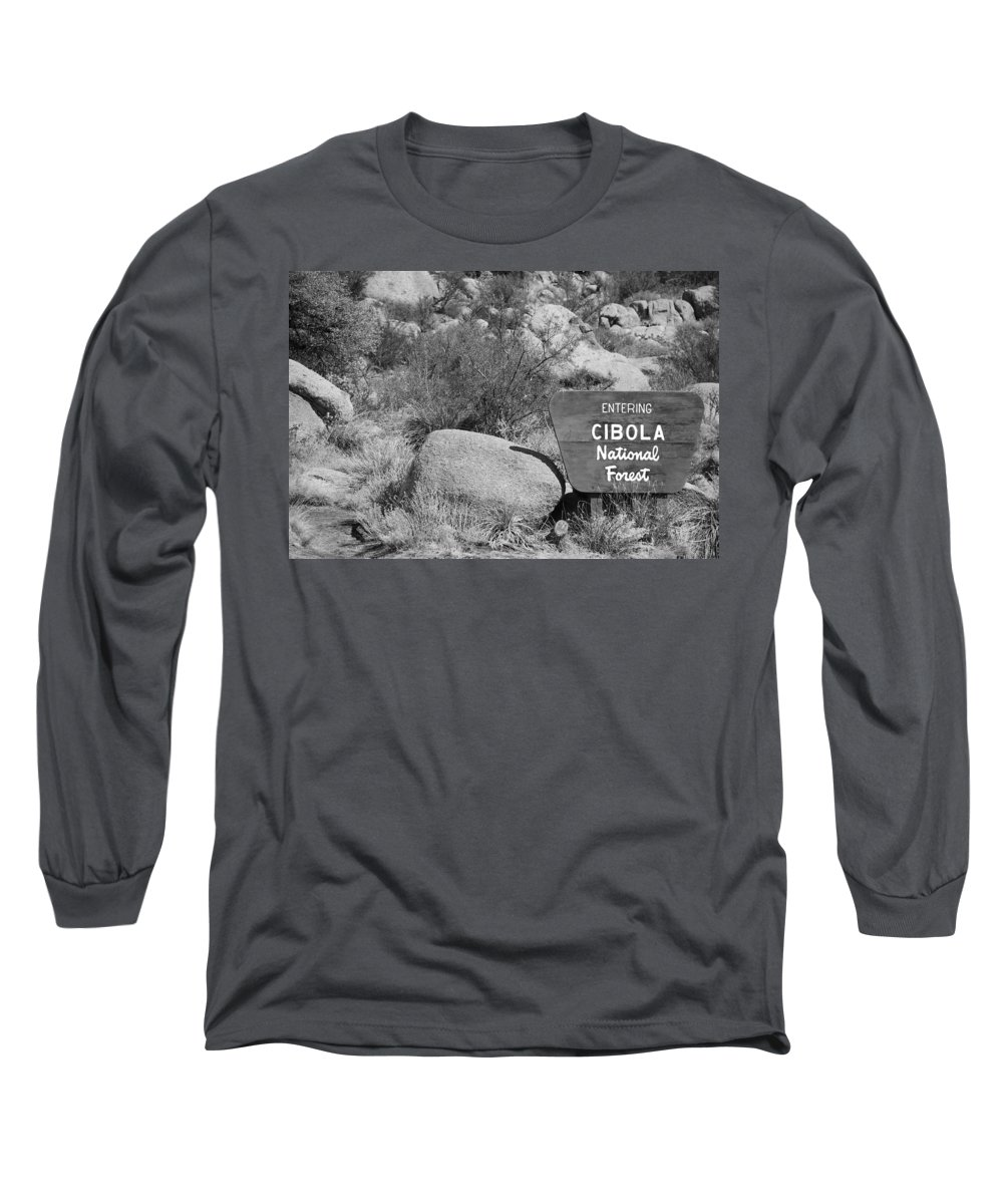 Black And White Long Sleeve T-Shirt featuring the photograph Cibola National Forest by Rob Hans