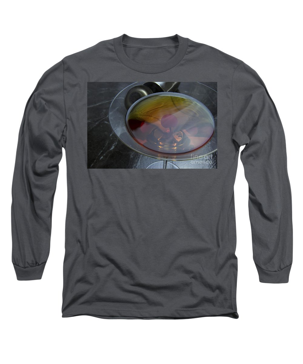 Classic Long Sleeve T-Shirt featuring the photograph Classic Manhattan Cocktail With Cherry by Karen Foley