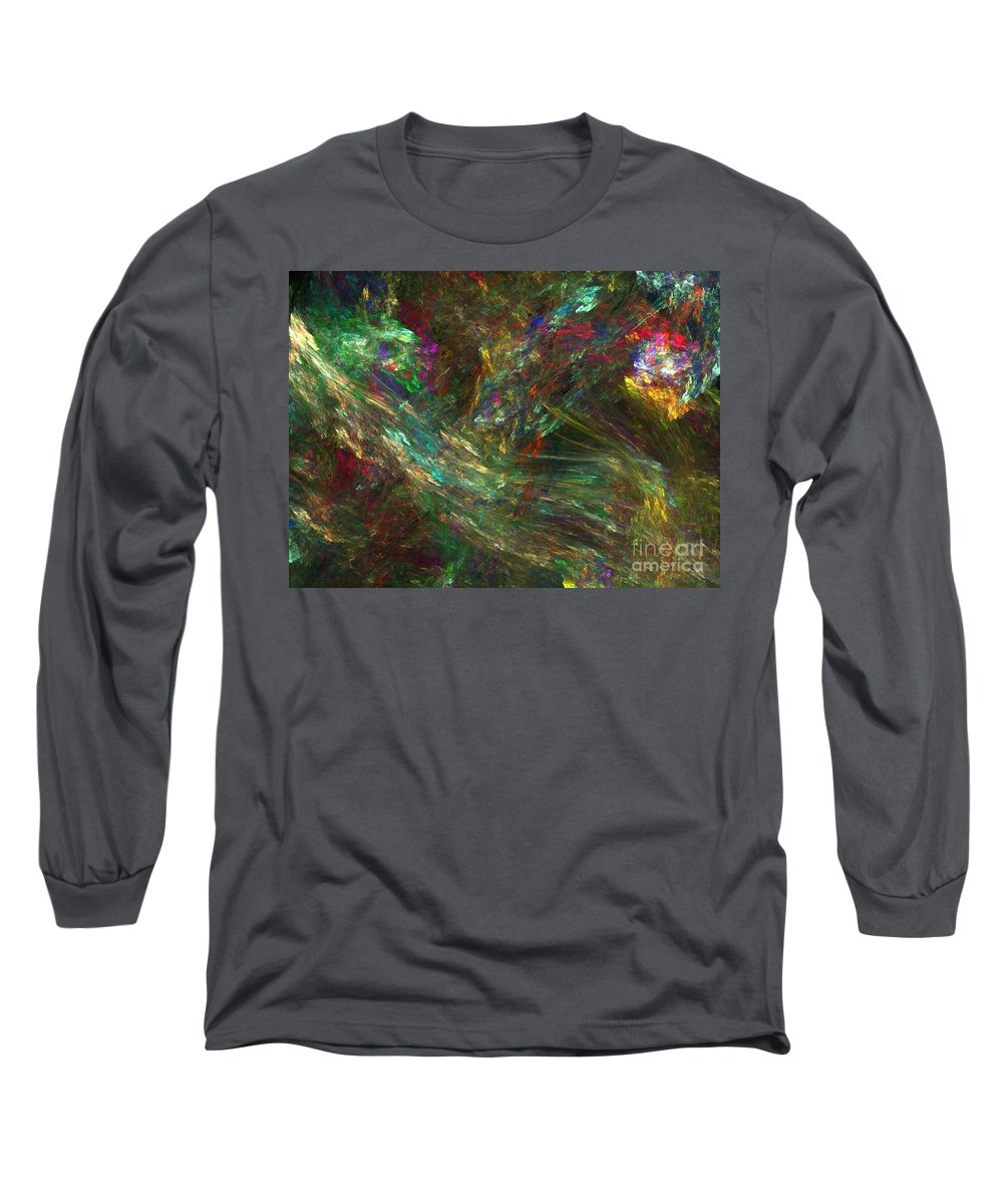 Fractals Long Sleeve T-Shirt featuring the digital art Colors Of Light by Richard Rizzo