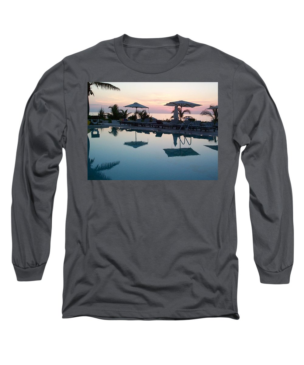 Charity Long Sleeve T-Shirt featuring the photograph Columbus Isle by Mary-Lee Sanders