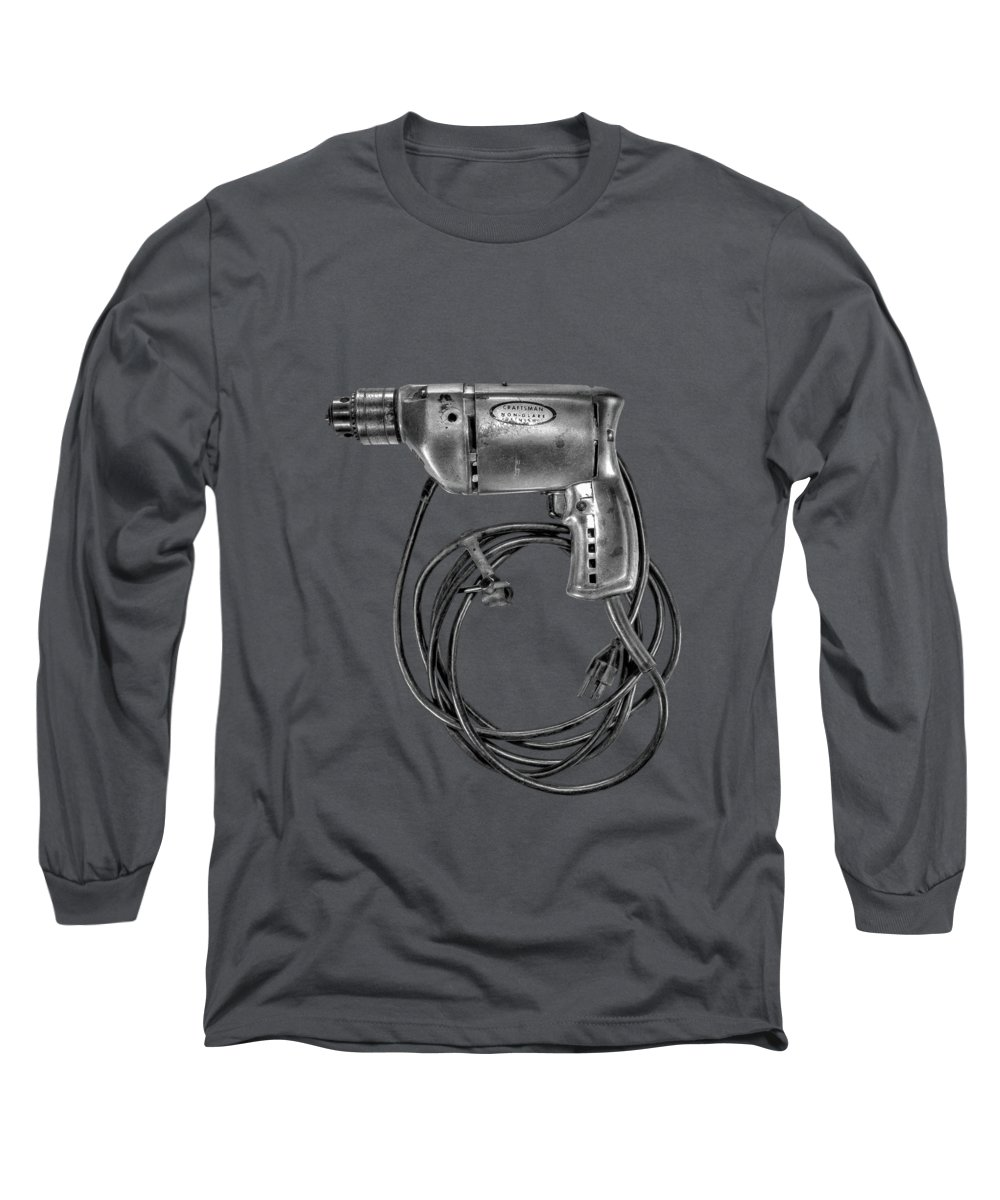 Antique Long Sleeve T-Shirt featuring the photograph Craftsman Drill Motor Lbw by YoPedro