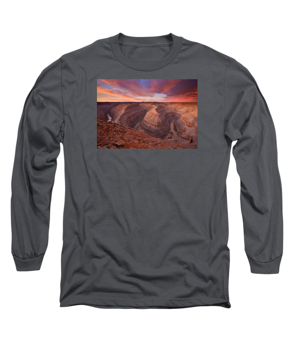 Canyon Long Sleeve T-Shirt featuring the photograph Curves Ahead by Mike Dawson