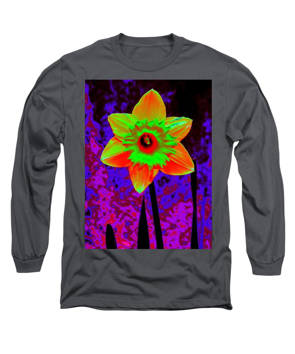Daffodil Long Sleeve T-Shirt featuring the photograph Daffodil 2 by Tim Allen