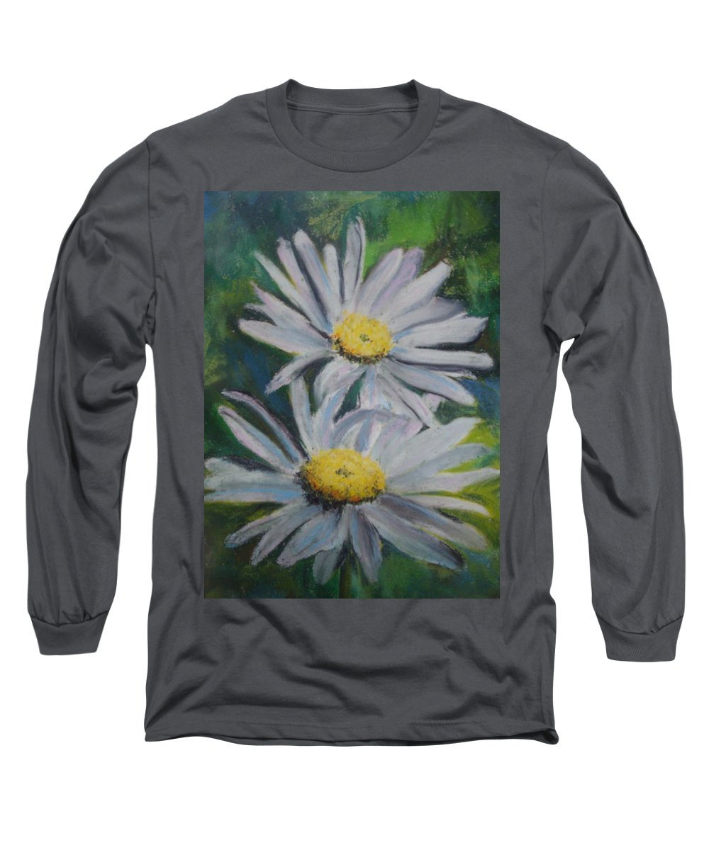 Daisies Long Sleeve T-Shirt featuring the painting Daisies by Melinda Etzold