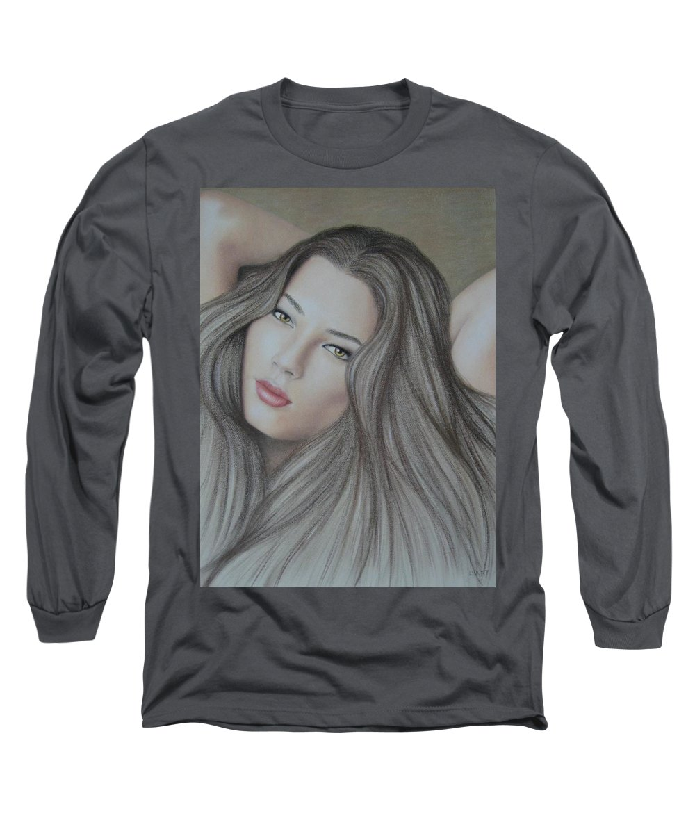 Woman Long Sleeve T-Shirt featuring the painting Daydreaming by Lynet McDonald