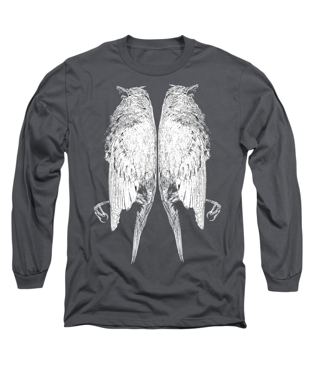 Birds Long Sleeve T-Shirt featuring the photograph Dead Birds Tee White by Edward Fielding