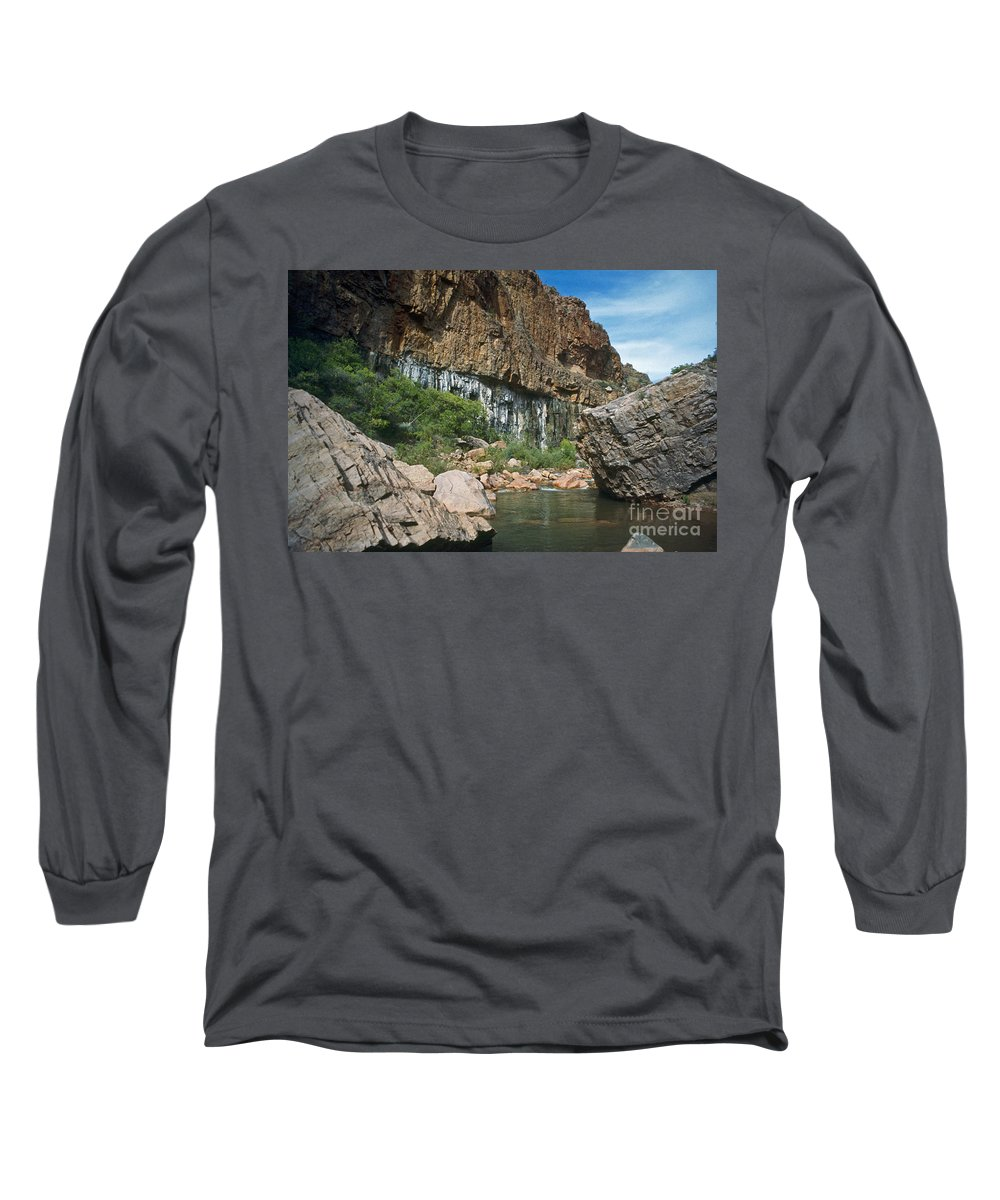 Landscape Long Sleeve T-Shirt featuring the photograph Deep Water by Kathy McClure