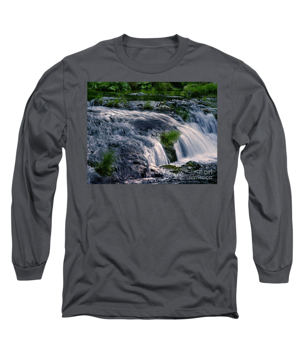 Creek Long Sleeve T-Shirt featuring the photograph Deer Creek 01 by Peter Piatt