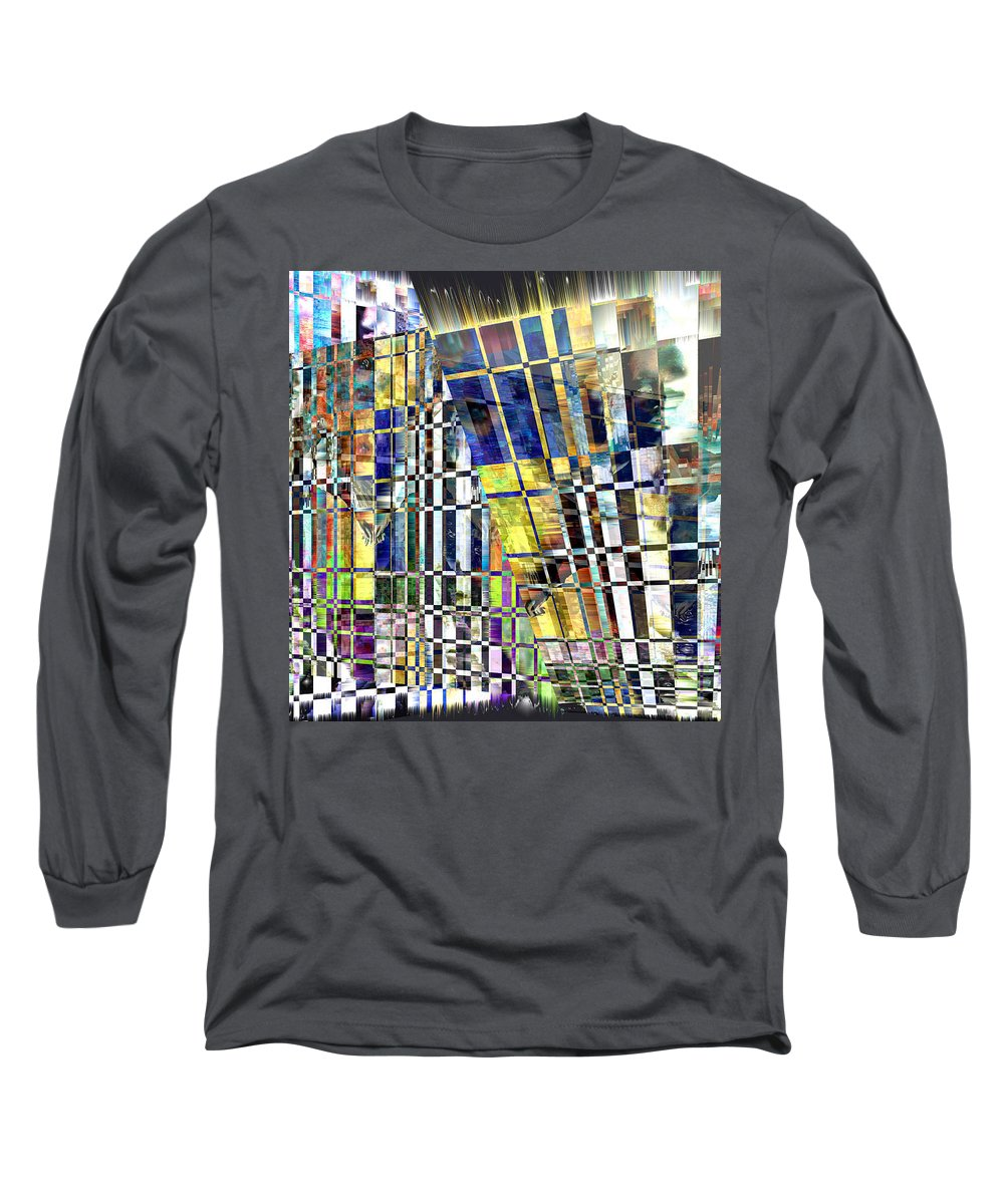 Abstract Long Sleeve T-Shirt featuring the digital art Desperate Reflections by Seth Weaver