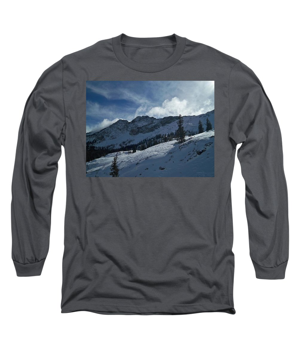 Ski Long Sleeve T-Shirt featuring the photograph Devils Castle Morning Light by Michael Cuozzo