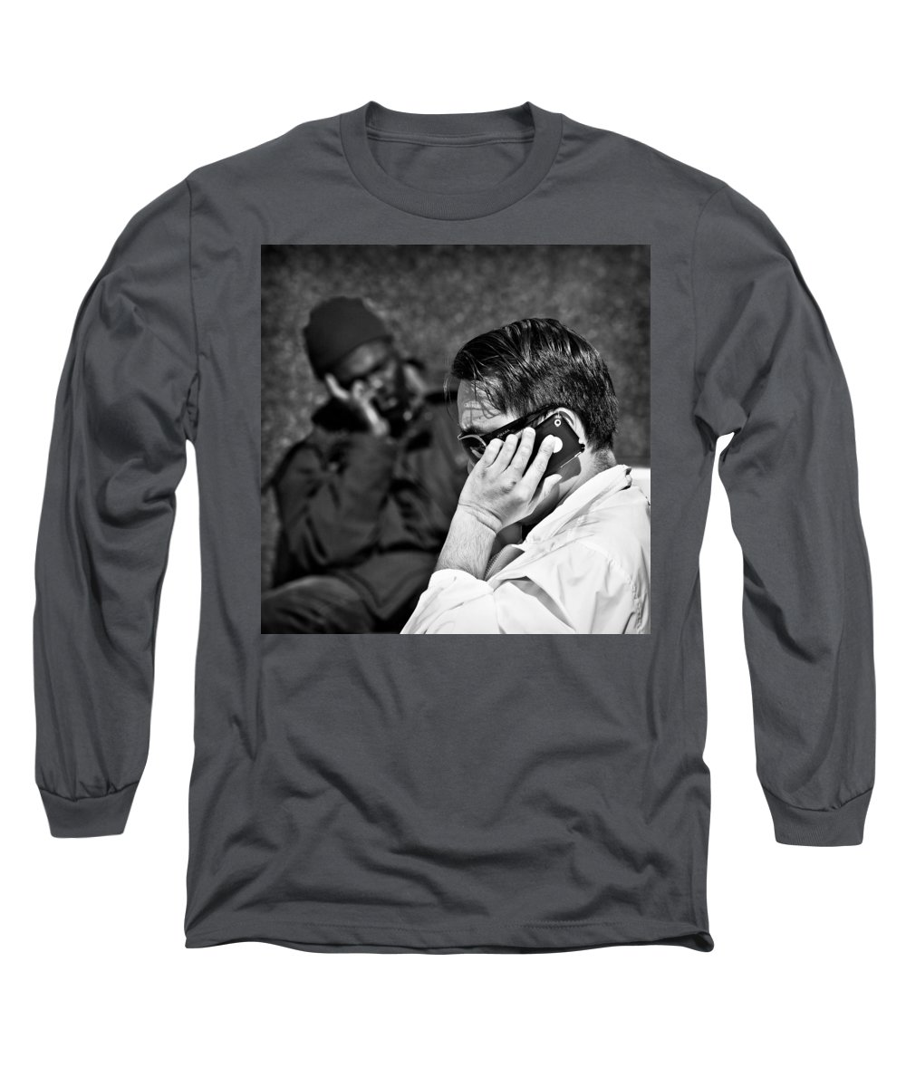 People Long Sleeve T-Shirt featuring the photograph Different Lives by Dave Bowman