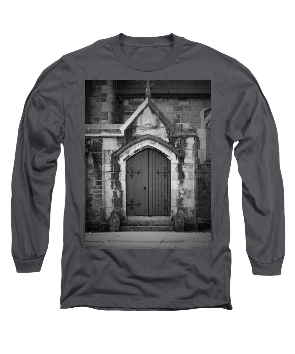Irish Long Sleeve T-Shirt featuring the photograph Door At St. Johns In Tralee Ireland by Teresa Mucha