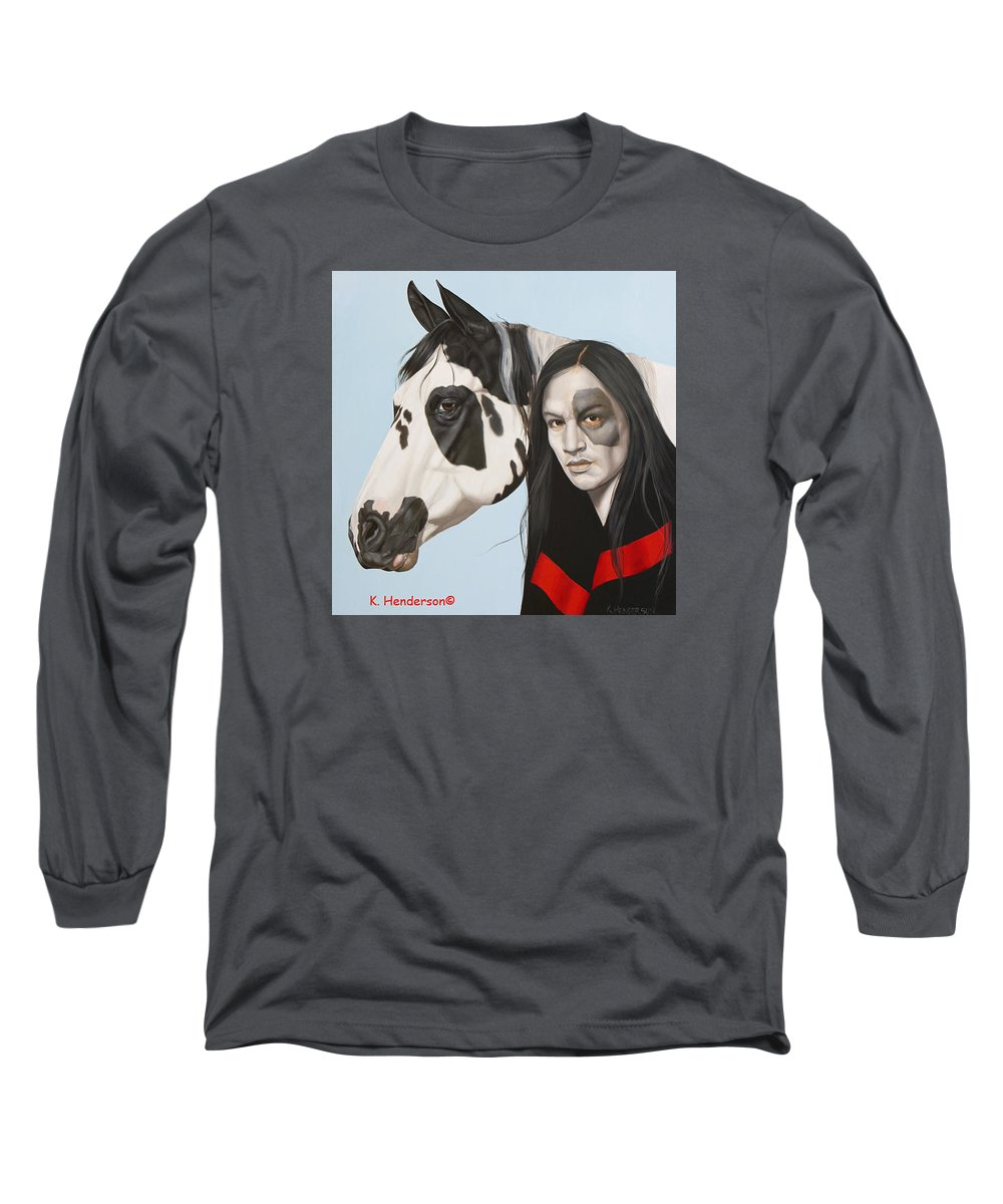 Cowgirl Long Sleeve T-Shirt featuring the painting Dreams Await by K Henderson