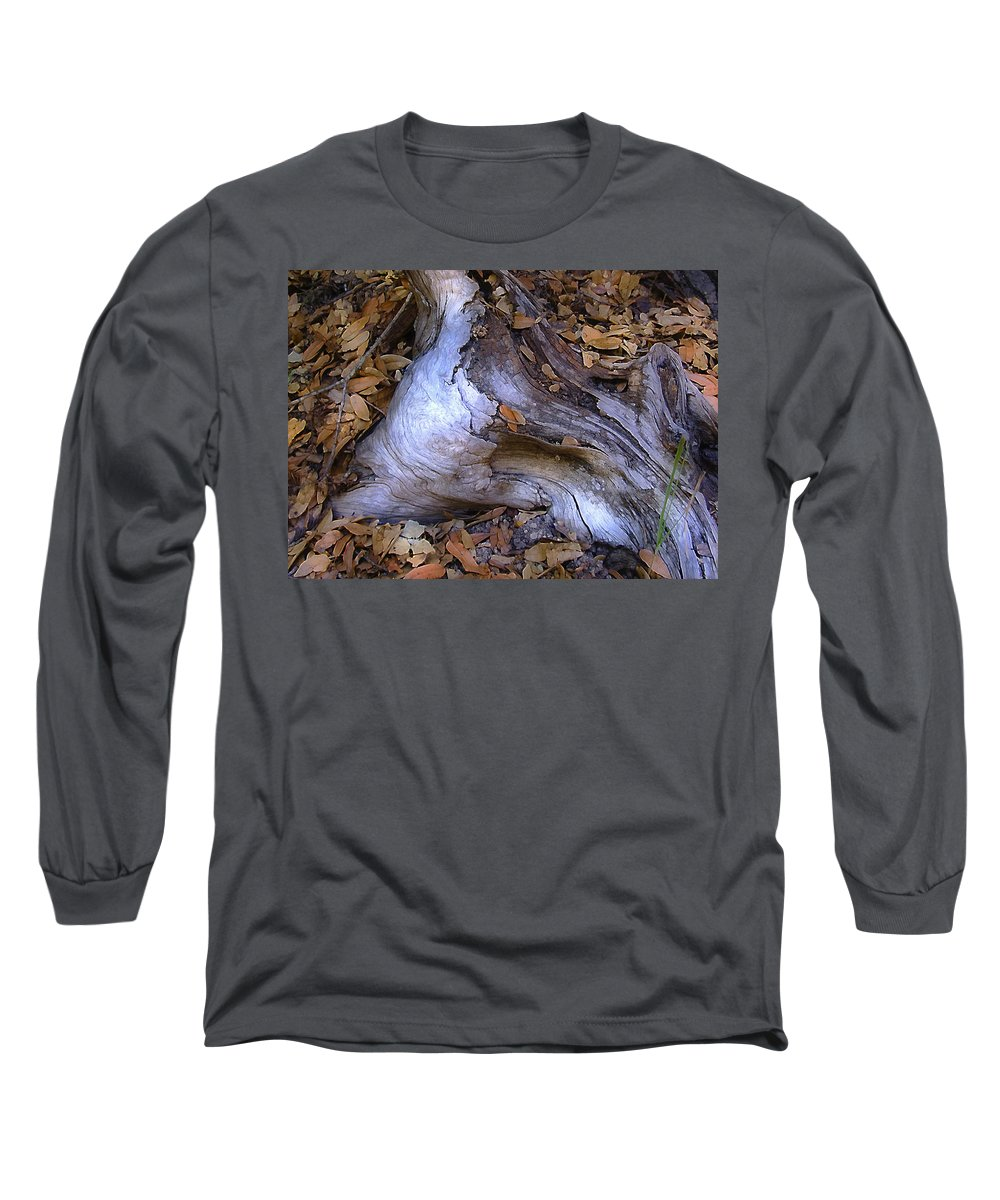 Landscape Long Sleeve T-Shirt featuring the photograph Driftwood In Lahonda by Karen W Meyer
