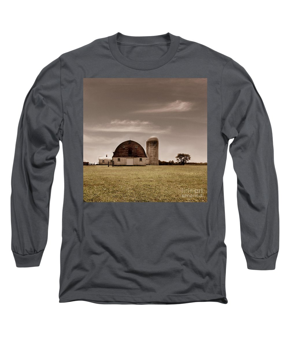 Farm Long Sleeve T-Shirt featuring the photograph Dry Earth Crumbles Between My Fingers And I Look To The Sky For Rain by Dana DiPasquale