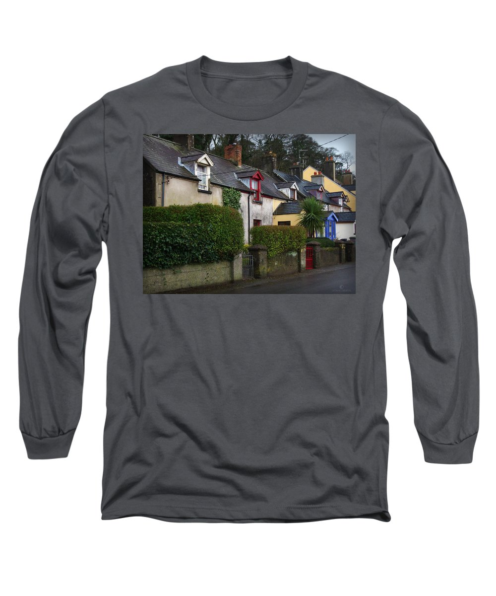 Ireland Long Sleeve T-Shirt featuring the photograph Dunmore Houses by Tim Nyberg