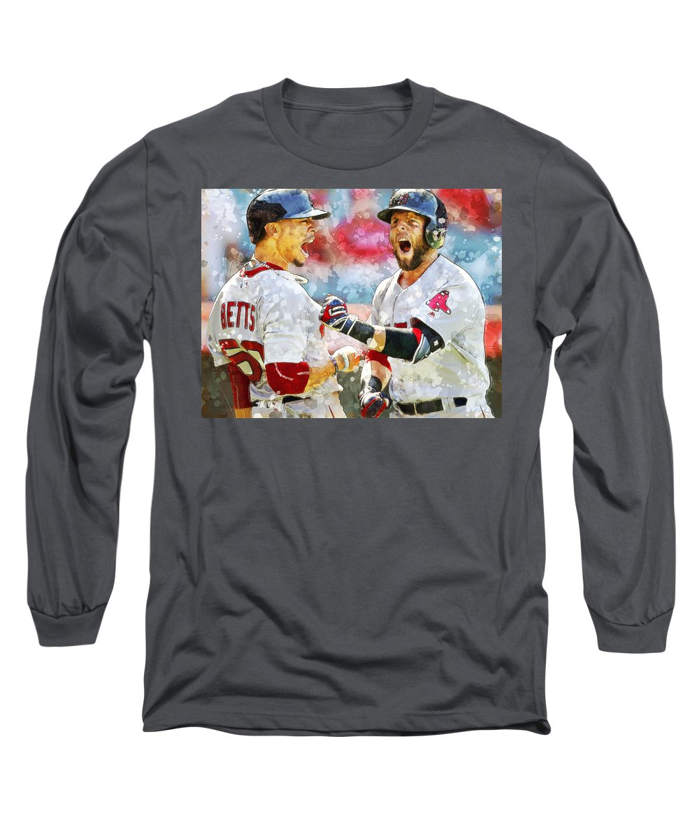 quite nice 2952c df19c Dustin Pedroia And Mookie Betts. Long Sleeve T-Shirt