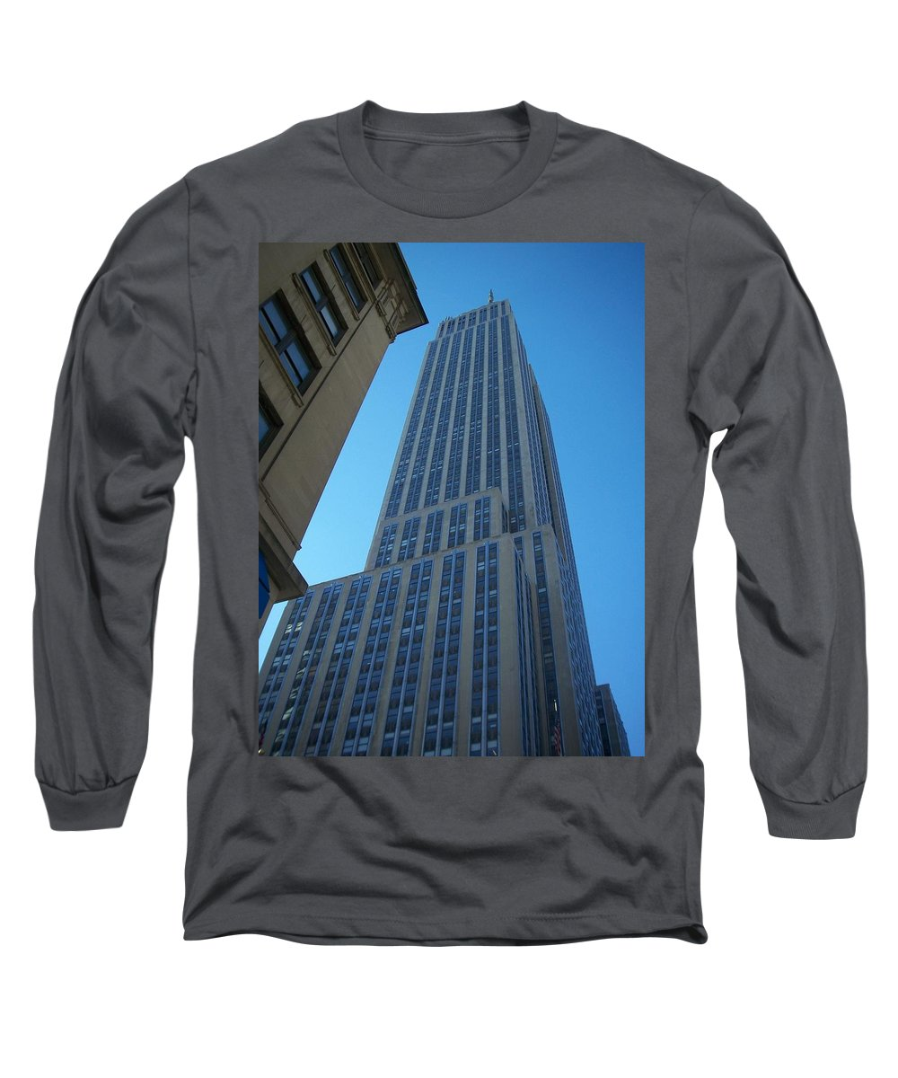 Emoire State Building Long Sleeve T-Shirt featuring the photograph Empire State 2 by Anita Burgermeister