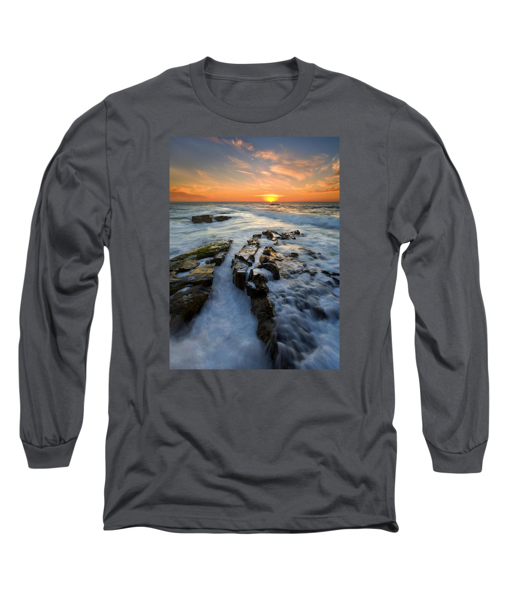 Sunset Long Sleeve T-Shirt featuring the photograph Engulfed by Mike Dawson