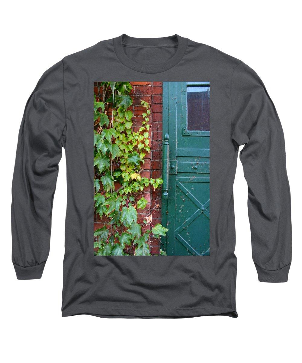 Vines Long Sleeve T-Shirt featuring the photograph Enter Vine Door by Minaz Jantz