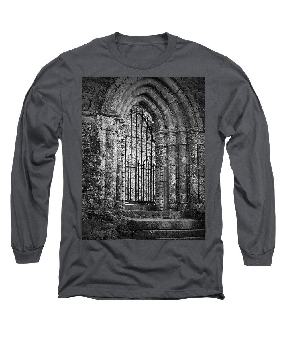 Irish Long Sleeve T-Shirt featuring the photograph Entrance To Cong Abbey Cong Ireland by Teresa Mucha