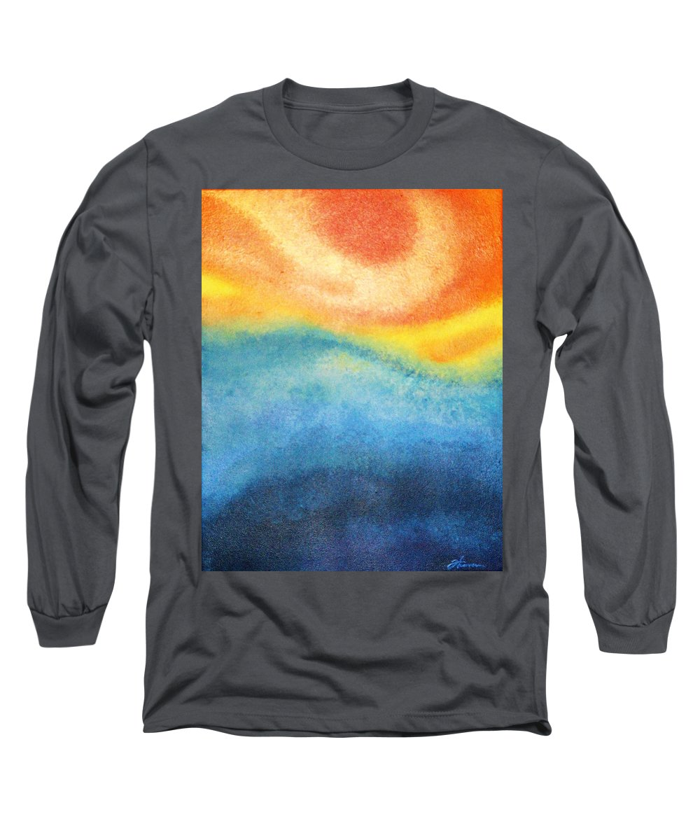 Escape Long Sleeve T-Shirt featuring the painting Escape by Todd Hoover