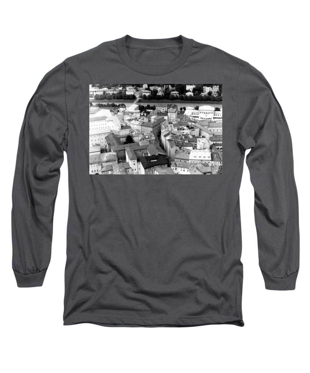 Rofftops Long Sleeve T-Shirt featuring the photograph European Rooftops by Michelle Calkins