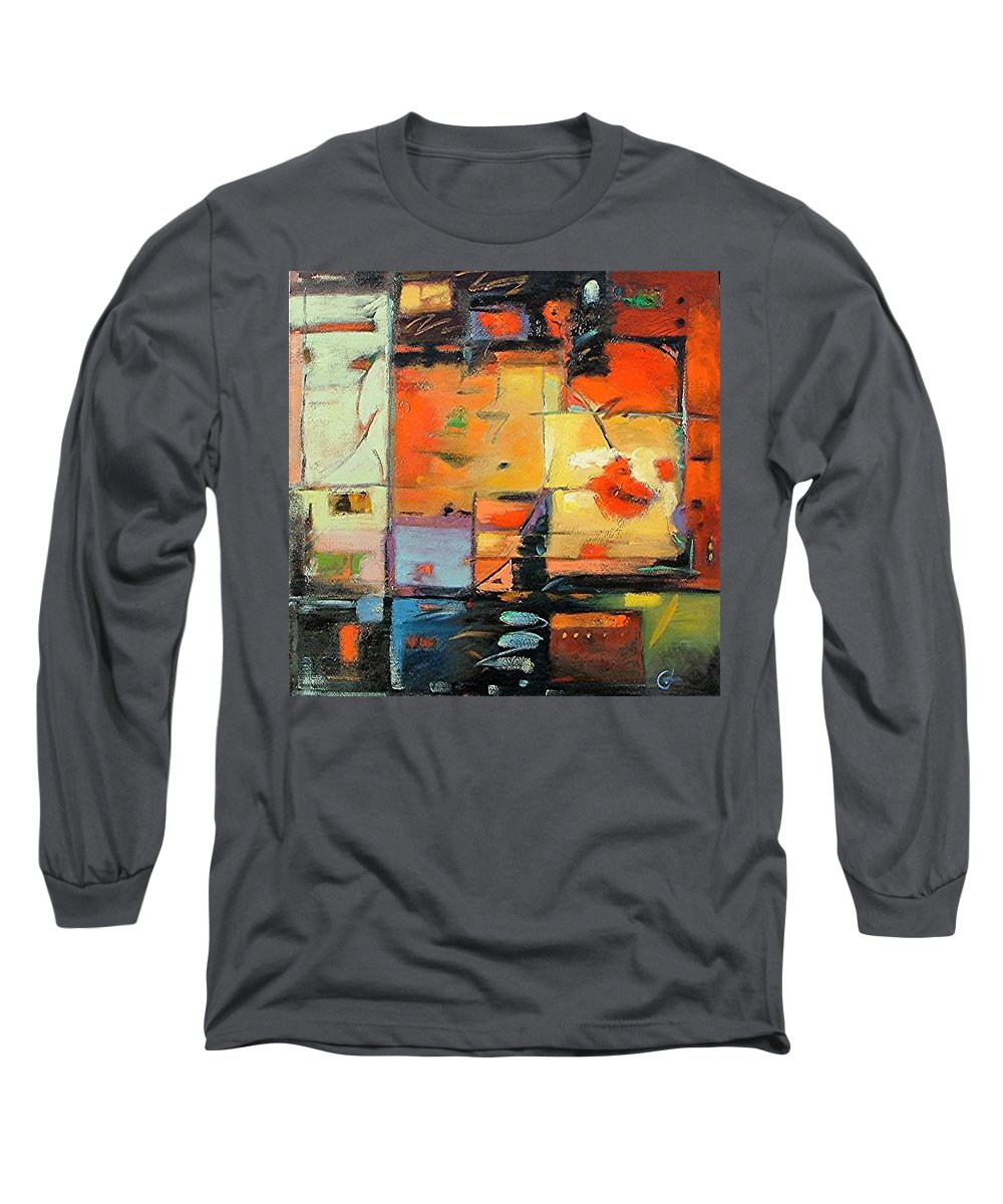 Abstract Painting Long Sleeve T-Shirt featuring the painting Evening Light by Gary Coleman