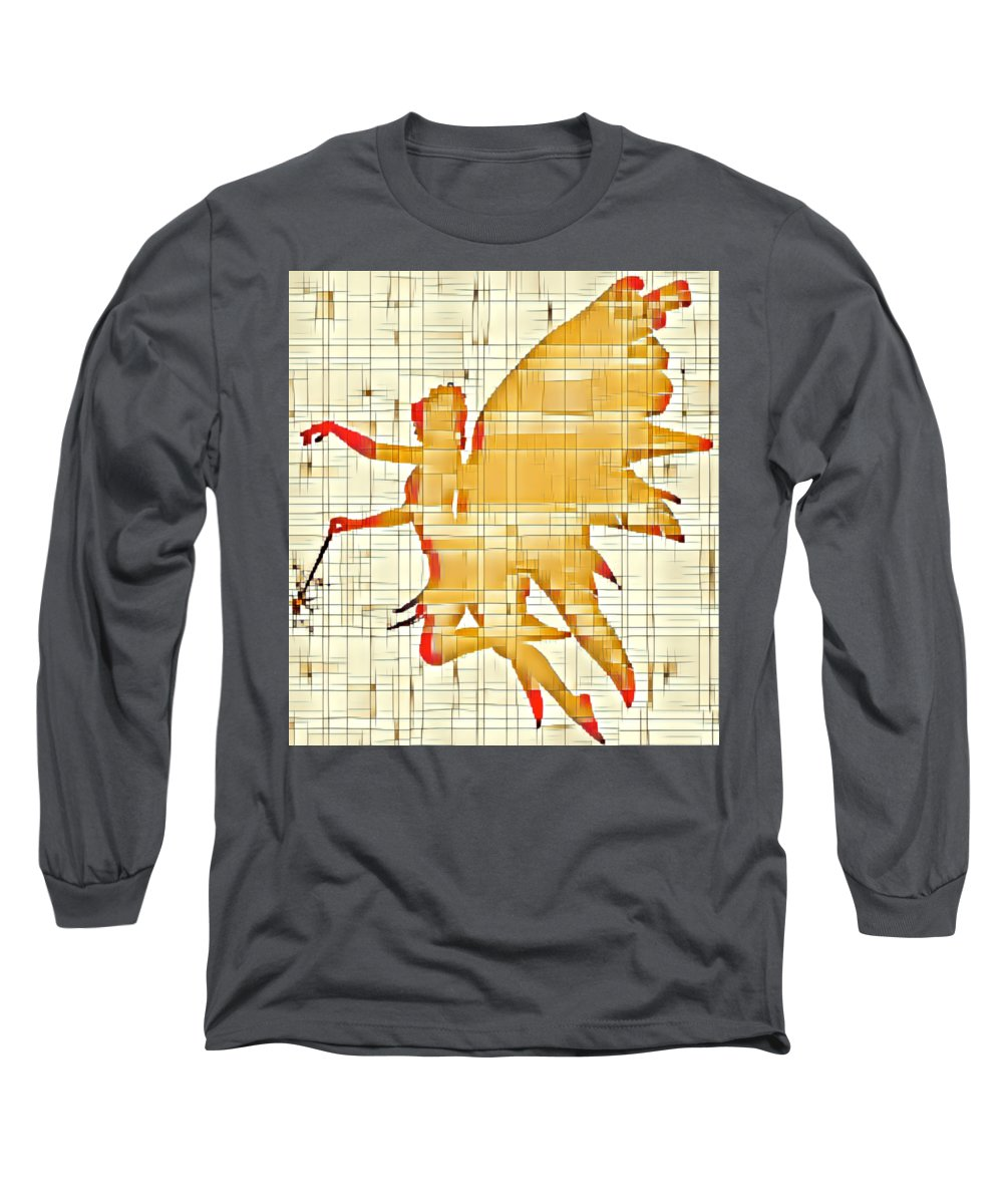 Fairy Long Sleeve T-Shirt featuring the digital art Fairy Wings by Esoterica Art Agency