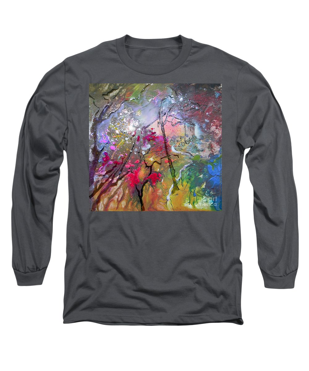 Miki Long Sleeve T-Shirt featuring the painting Fantaspray 19 1 by Miki De Goodaboom