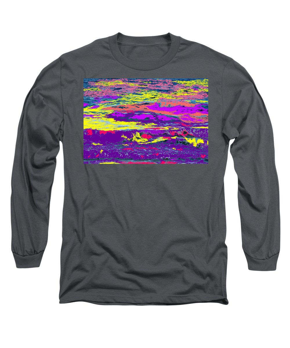 Ocean Long Sleeve T-Shirt featuring the photograph Fiery Passion by Ian MacDonald