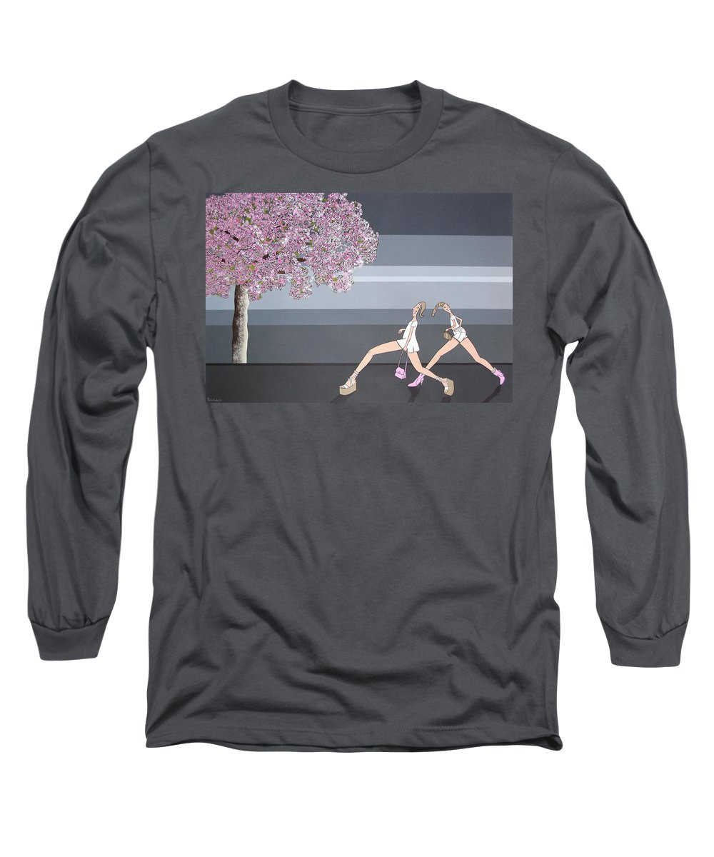 Girls Long Sleeve T-Shirt featuring the painting Fifteen by Patricia Van Lubeck
