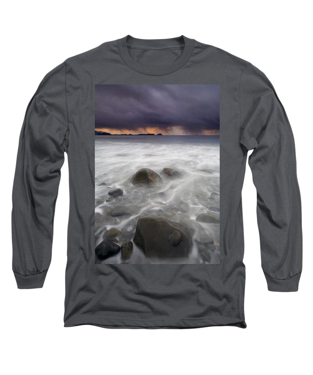 Storm Long Sleeve T-Shirt featuring the photograph Fingers Of The Storm by Mike Dawson
