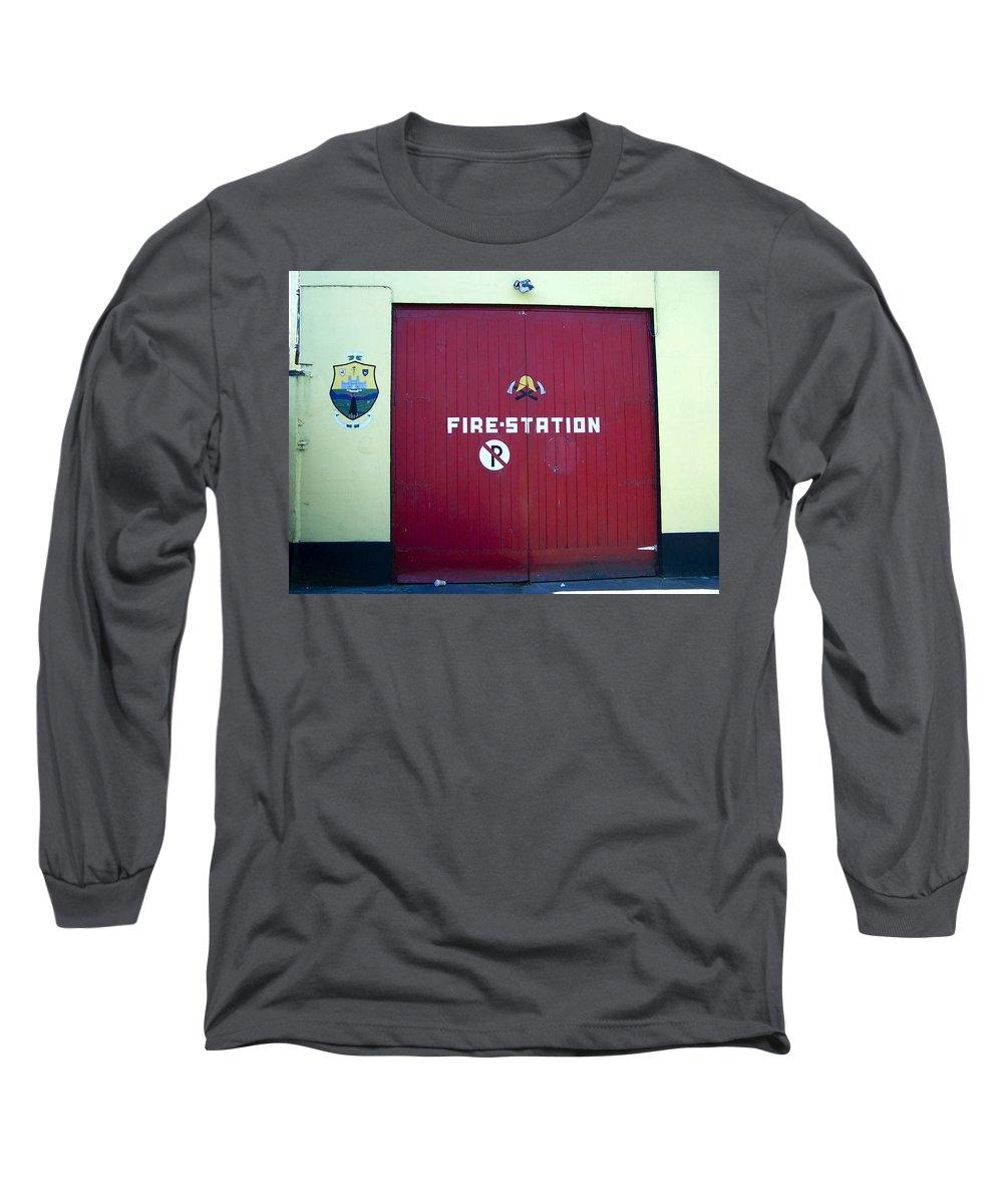 Irish Long Sleeve T-Shirt featuring the photograph Fire Door In Macroom Ireland by Teresa Mucha