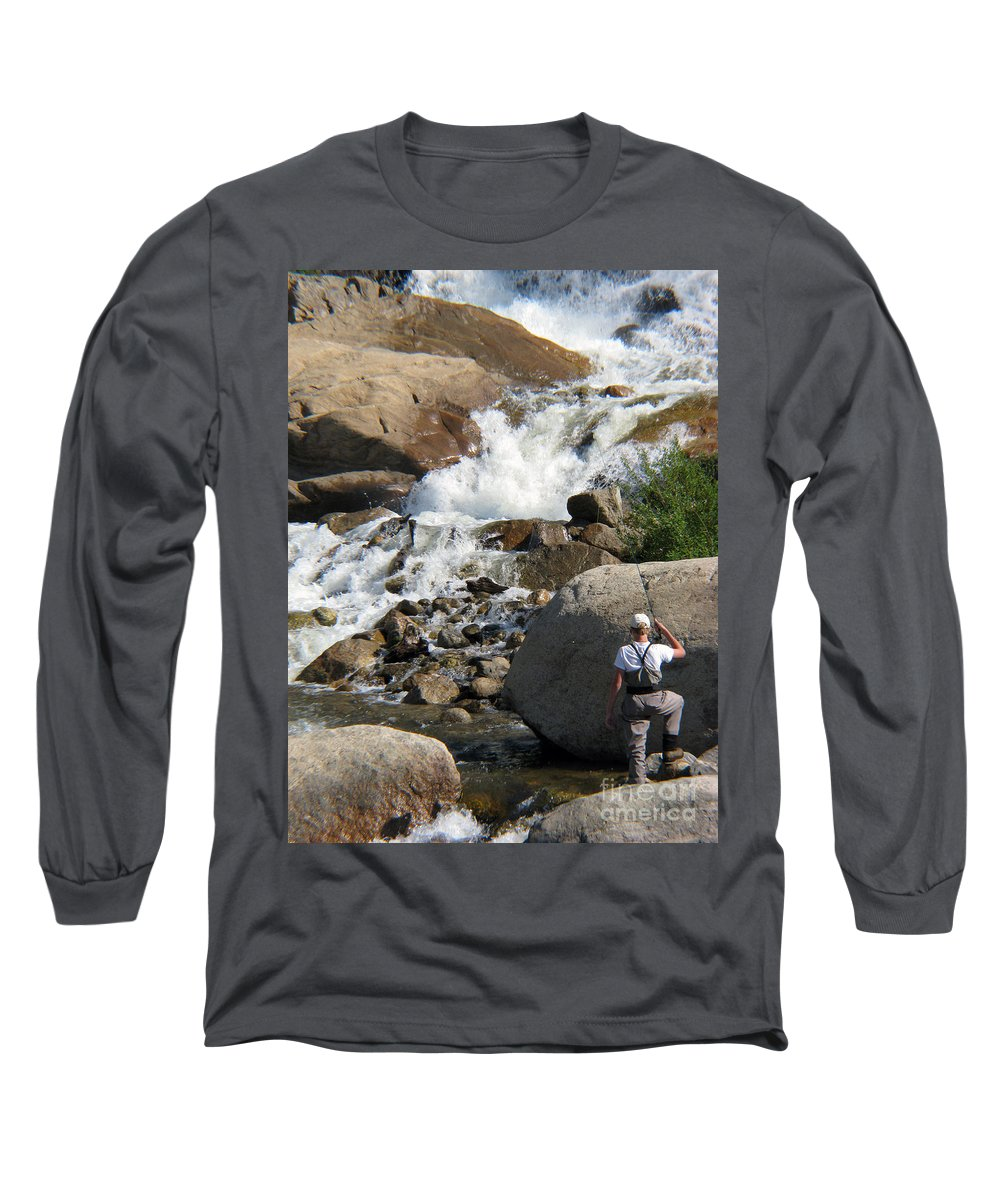 Fishing Long Sleeve T-Shirt featuring the photograph Fishing Anyone by Amanda Barcon