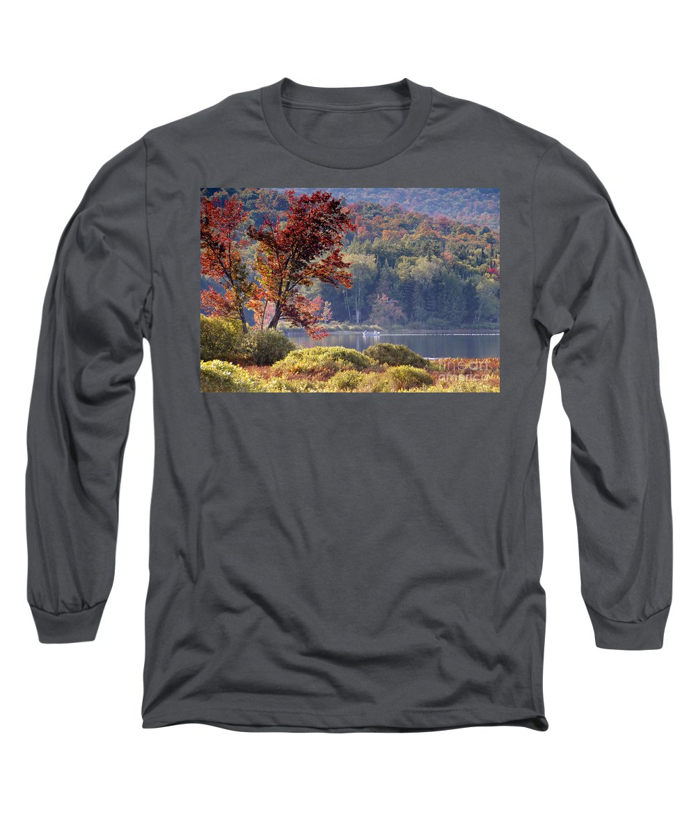 Adirondack Mountains Long Sleeve T-Shirt featuring the photograph Fishing The Adirondacks by David Lee Thompson