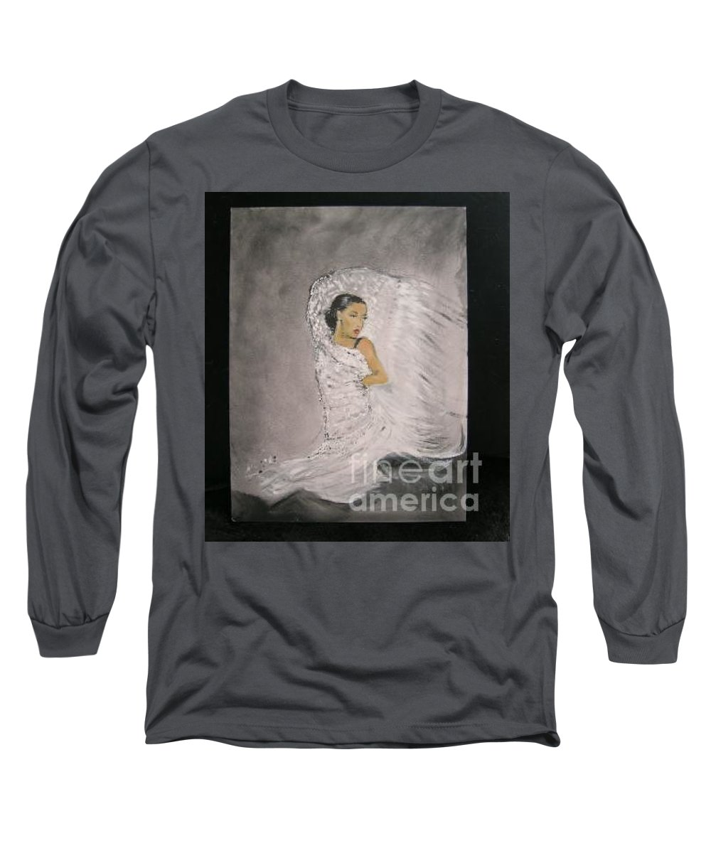 Spain Long Sleeve T-Shirt featuring the painting Flamenco by Lizzy Forrester