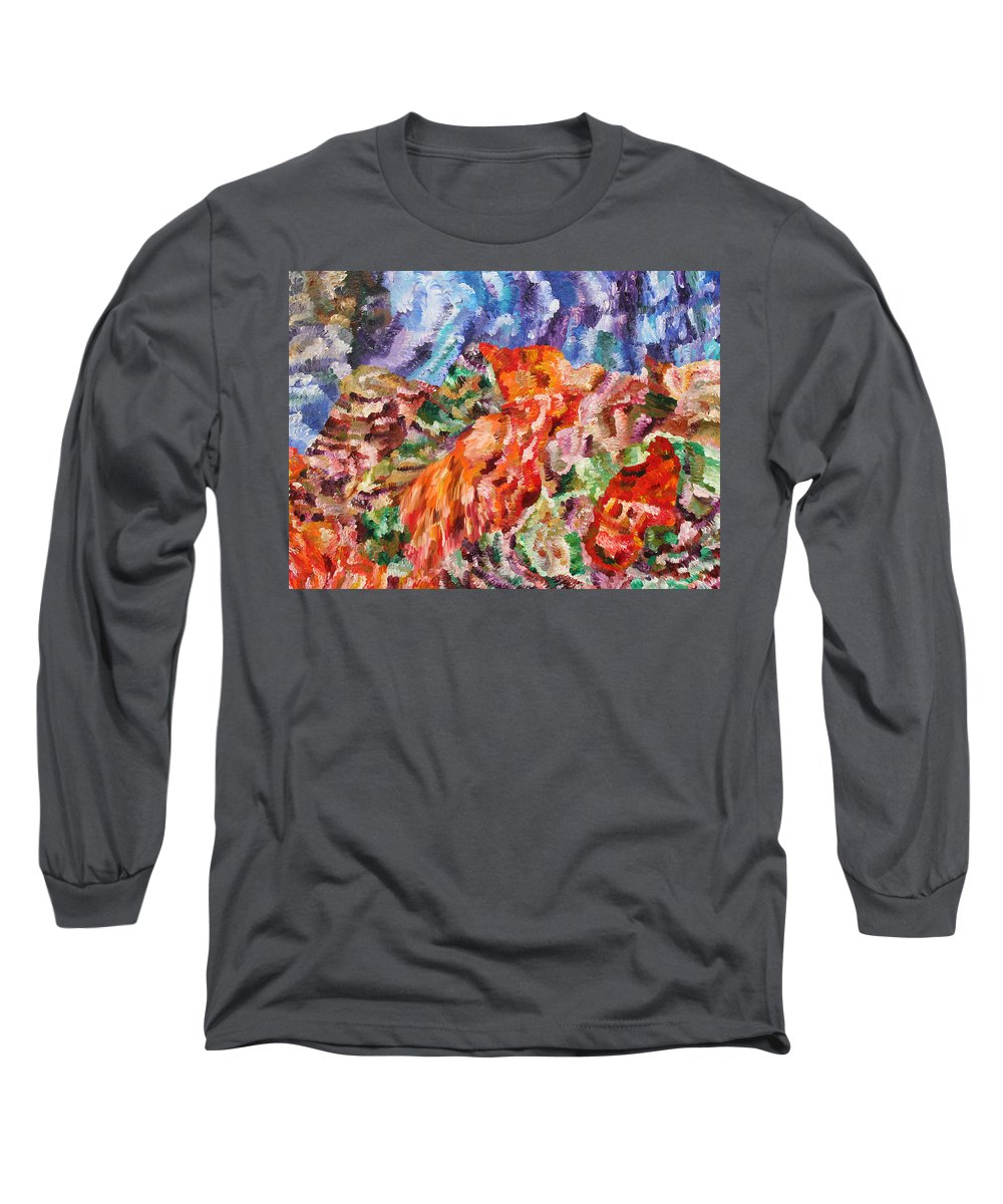 Fusionart Long Sleeve T-Shirt featuring the painting Flock by Ralph White