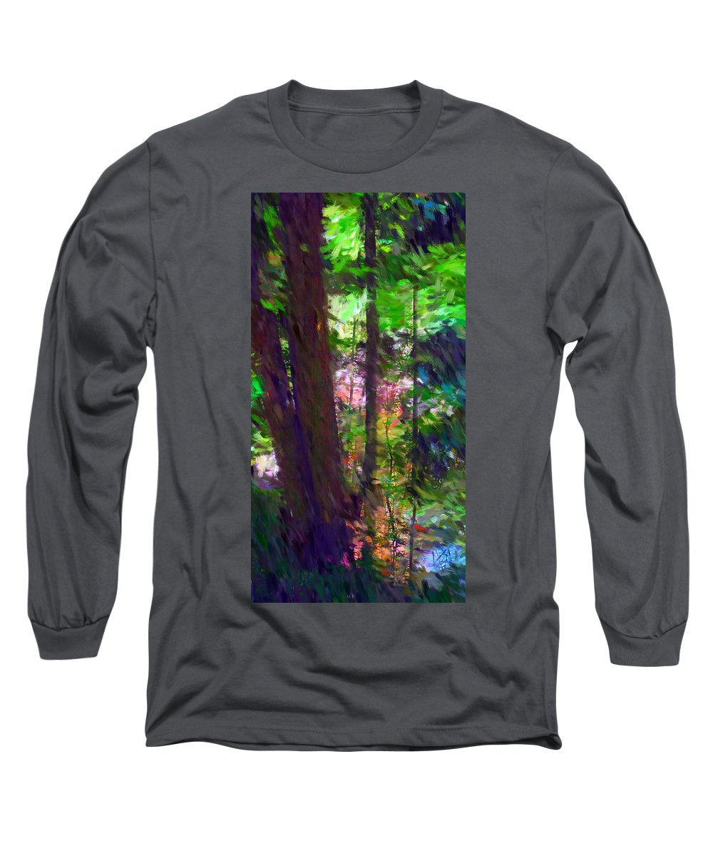 Digital Photography Long Sleeve T-Shirt featuring the digital art Forest For The Trees by David Lane