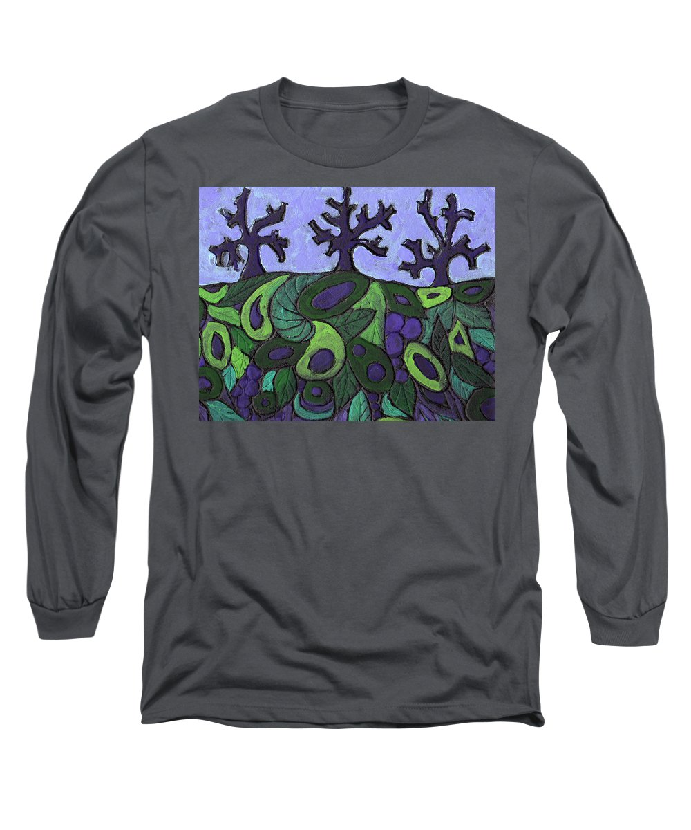 Forest Long Sleeve T-Shirt featuring the painting Forest Royal by Wayne Potrafka